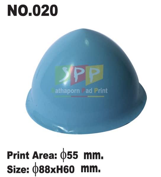 อุปกรณ์เครื่องแพด ลูกยางซิลิโคน สีฟ้า เบอร์ 20