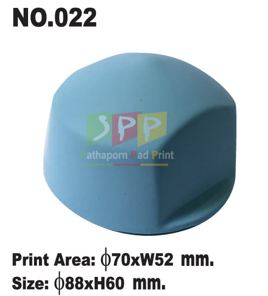 อุปกรณ์เครื่องแพด ลูกยางซิลิโคน สีฟ้า เบอร์ 22